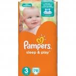 Подгузники Pampers Sleep & Play Размер 3 (Midi) 5-9 кг, 78 шт