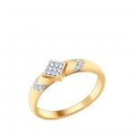 Кольцо Sokolov 93010624-17,5, серебро